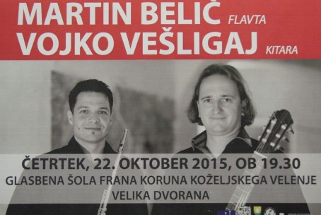 Martin Belič, flavta in Vojko Vešligaj, kitara - Abonma Klasika, 1. koncert