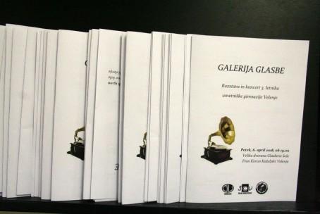 Galerija glasbe, večer dijakov 3. letnika Umetniške gimnazije Velenje