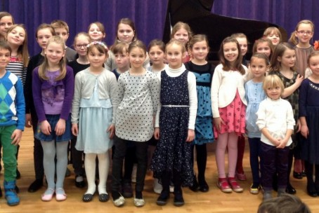 Javni nastop pianistov prvošolcev, 12. februar 2015