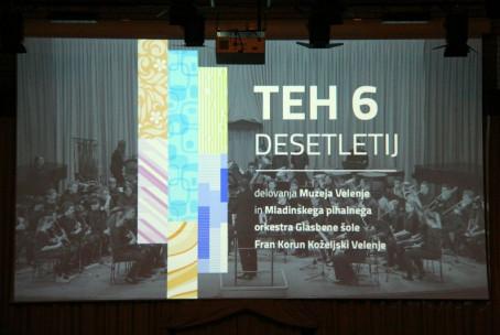 Teh 6 desetletij, slovesnost ob 60-letnici Muzeja Velenje in Pihalnega orkestra Glasbene šole Velenje