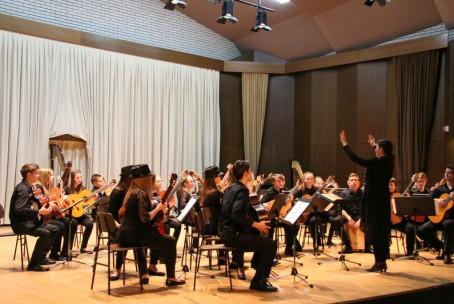 Koncert učencev in dijakov aktiva za kitaro, harfo in citre Glasbene šole Velenje