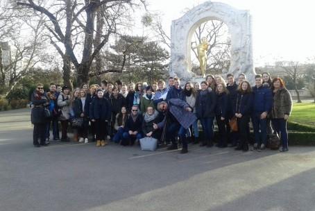 Strokovna ekskurzija dijakov na Dunaj