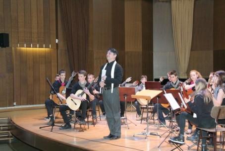 Koncert kitarskih orkestrov Glasbene šole Velenje in Glasbene šole Ljubljana Moste - Polje