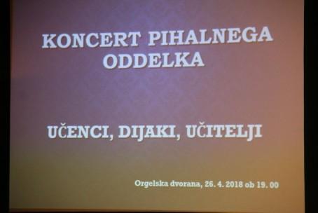 Koncert učencev, dijakov in učiteljev oddelka za pihala Glasbene šole Velenje