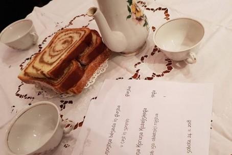 Slavnostna béseda in glasba v čast in spomin Frana Koruna Koželjskega ob 150. obletnici rojstva - nastop dijakov Umetniške gimnazije Velenje na Velenjskem gradu; foto: Tanja Verboten, Muzej Velenje