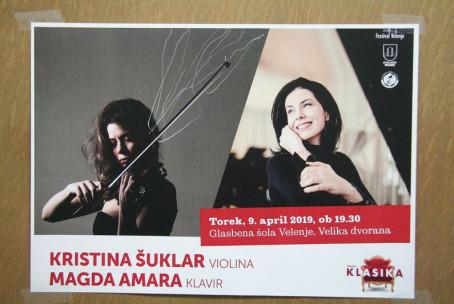 Kristina Šuklar, violina in Magda Amara, klavir - Abonma Klasika, 6. koncert