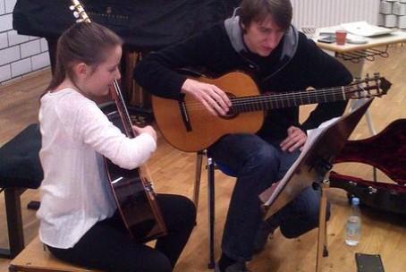 Seminar za kitaro, mentor Nejc Kuhar, 13. 2. 2016