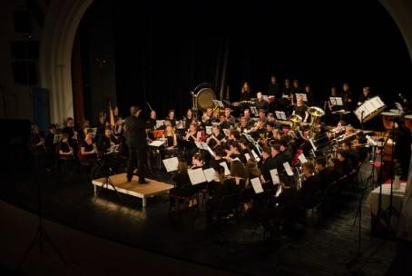 Pihalni orkester Glasbene šole Velenje na 7. tekmovanju slovenskih mladinskih godb v Lendavi