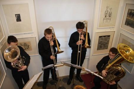 Trobilni kvartet učencev Glasbene šole Velenje, Vila Mayer, Šoštanj (foto: Jernej Hozjan)