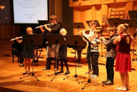 Koncert učencev, dijakov in učiteljev aktiva za pihala Glasbene šole Velenje