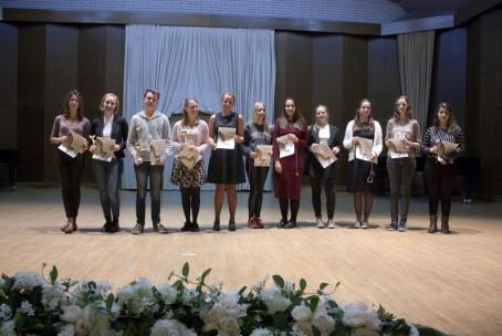 4. mednarodno tekmovanje Društva harfistov Slovenije - podelitev plaket in priznanj, 1. tekmovalni dan (kategorija C)