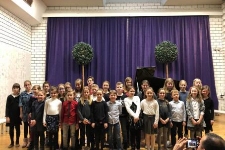 So ptički se ženili, nastop učencev 2. razreda klavirskega oddelka