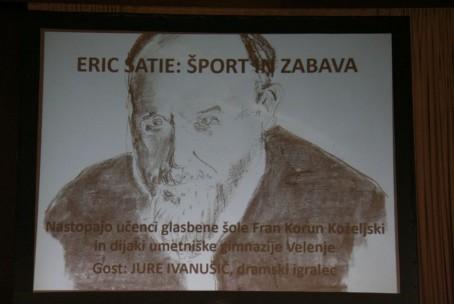 Erik Satie: Šport in zabava, koncert pianistov in recitacija s podelitvijo zgoščenk