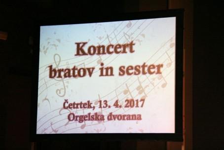 Koncert bratov in sester, nastop učencev in dijakov oddelka za pihala Glasbene šole Velenje z gosti