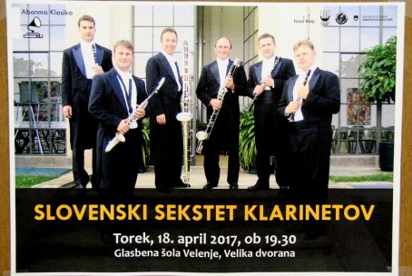 Slovenski sekstet klarinetov, 6. koncert abonmaja Klasika