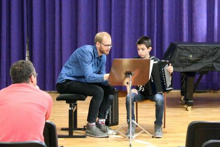 2. mednarodni harmonikarski seminar, mentor Andreas Borregaard (Danska)