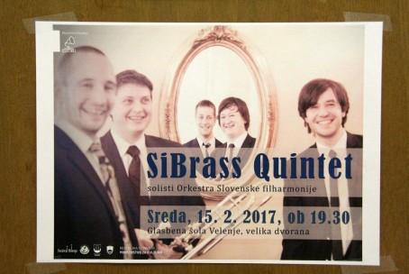 SiBRASS kvintet, koncert iz abonmaja Klasika