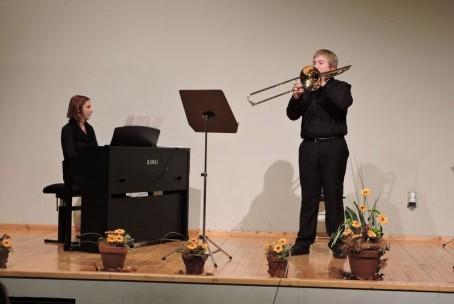 Koncert trobilcev Glasbene šole Velenje v Šmartnem ob Paki, 20. 11. 2015