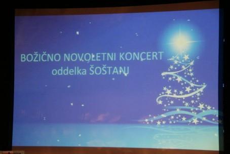 Božično-novoletni koncert Glasbene šole Velenje - oddelek Šoštanj