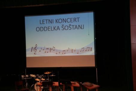 Letni koncert učencev oddelka Šoštanj