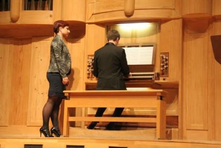 Sozvočje orgelske in komorne glasbe, nastop dijakov