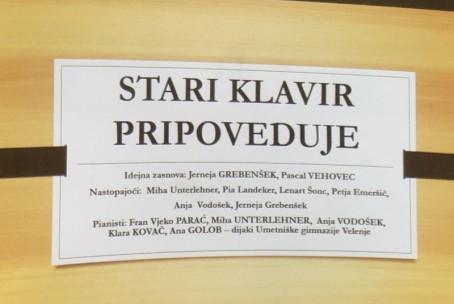 Stari klavir pripoveduje, projekt aktiva za klavir Glasbene šole Velenje