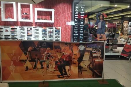 Nastop harmonikarjev Glasbene šole Velenje v nakupovalnem centru Velenjka