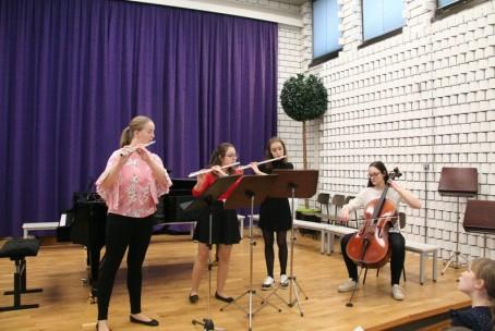 Glasbeno voščilo, javni nastop učencev Glasbene šole Velenje