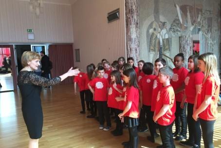 Otroški in mladinski pevski zbor Glasbene šole Velenje na državnem tekmovanju v Zagorju ob Savi, 27. in 28. marec 2018
