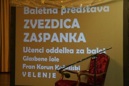 Zvezdica Zaspanka, baletna predstava oddelka za balet Glasbene šole Velenje