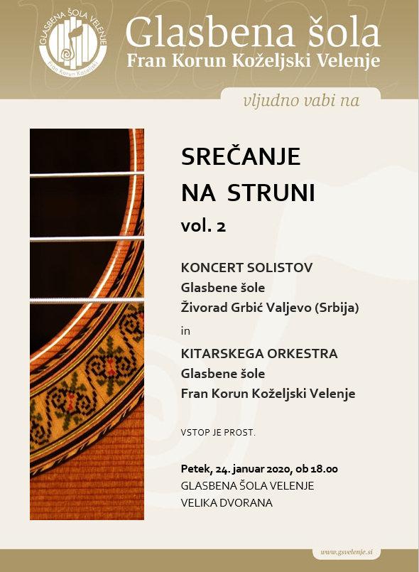 Vabljeni na koncert Srečanje na struni vol. 2
