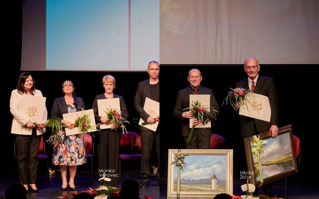 Naša učitelja, Monika Vehovec in Nikolaj Žličar, prejemnika priznanja in nagrade Frana Gerbiča