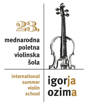 Summer violin school of prof. Igor Ozim begins