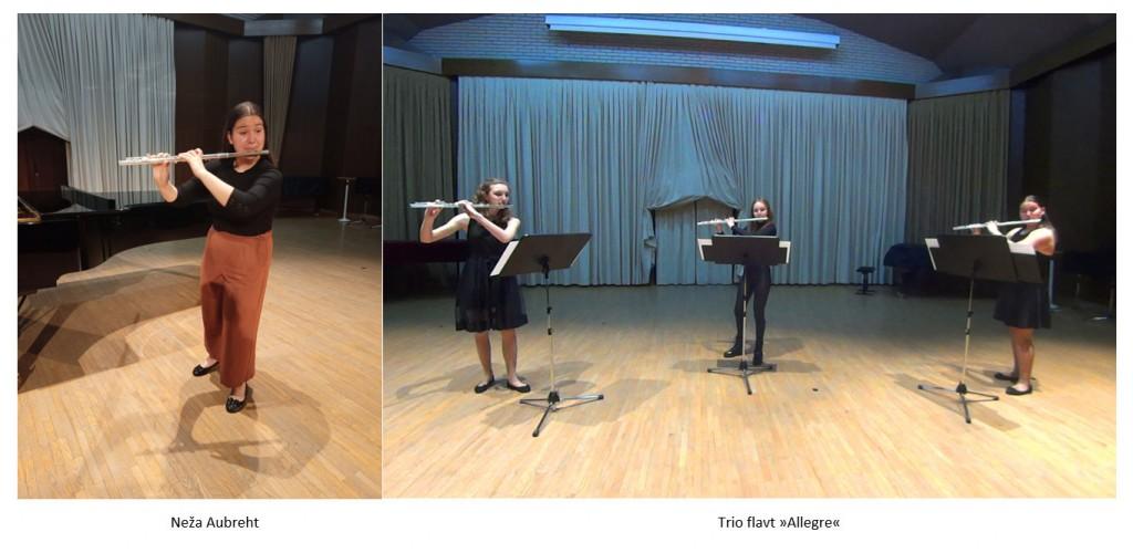 Naše flavtistke uspešne na spletnem tekmovanju v Trstu