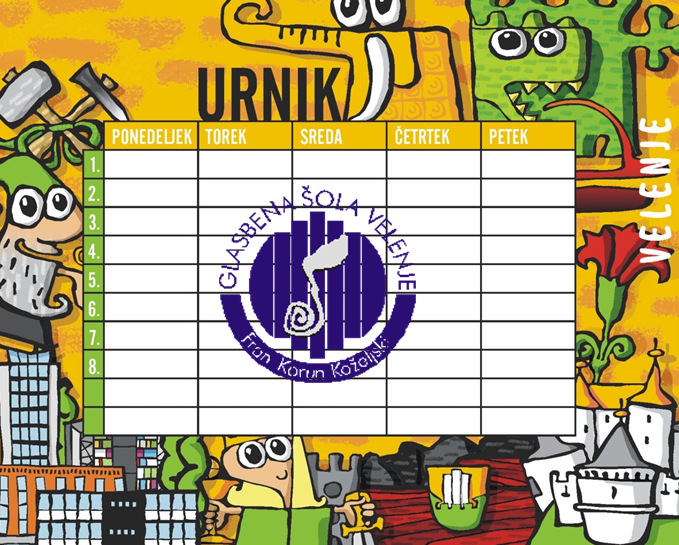 Razdelitev urnikov - 1. in 2. september 2015