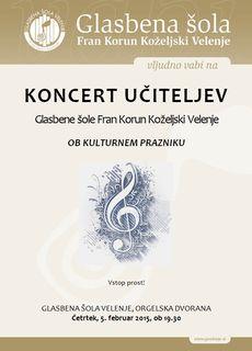 Koncert učiteljev Glasbene šole Velenje, 5. februar 2015