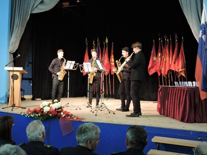 Nastop kvarteta saksofonov v Šmartnem ob Paki