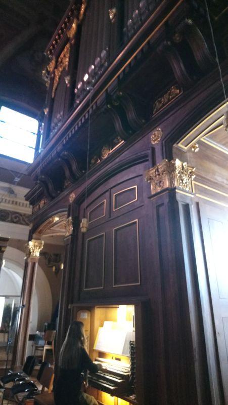 Orgelska maša v frančiškanski cerkvi na Tromostovju v Ljubljani