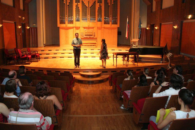 Pričetek 23. mednarodne poletne violinske šole prof. Igorja Ozima