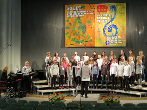 V Zagorju uspešen tudi Mladinski pevski zbor Glasbene šole Velenje