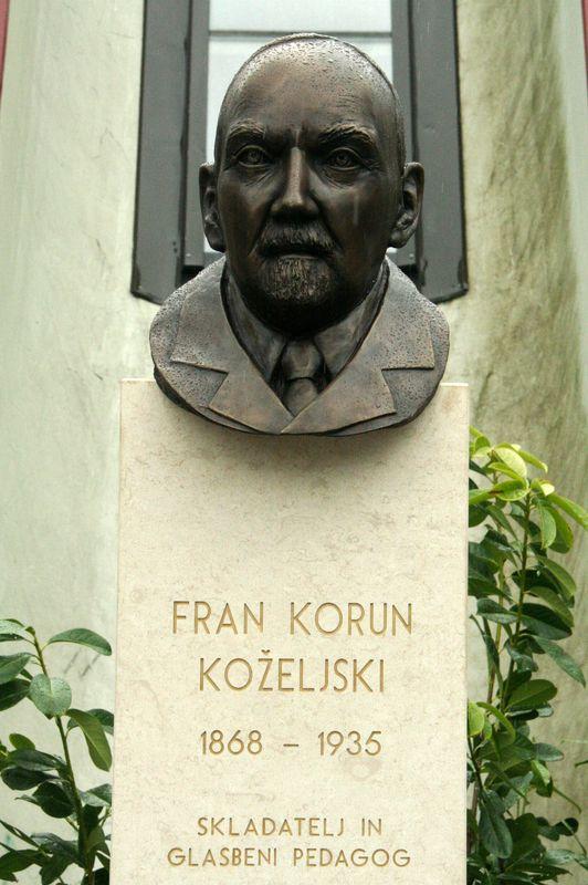 Odkritje kipa Frana Koruna Koželjskega