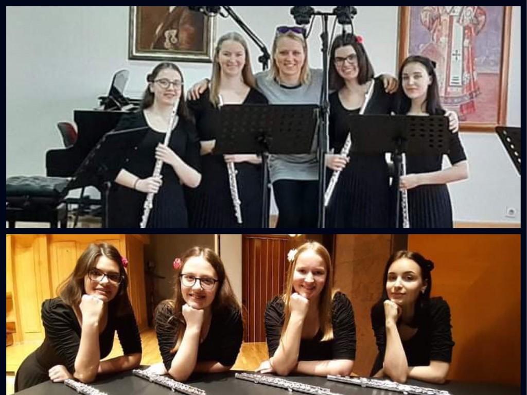 Zmaga naših dijakinj flavtistk v Beogradu