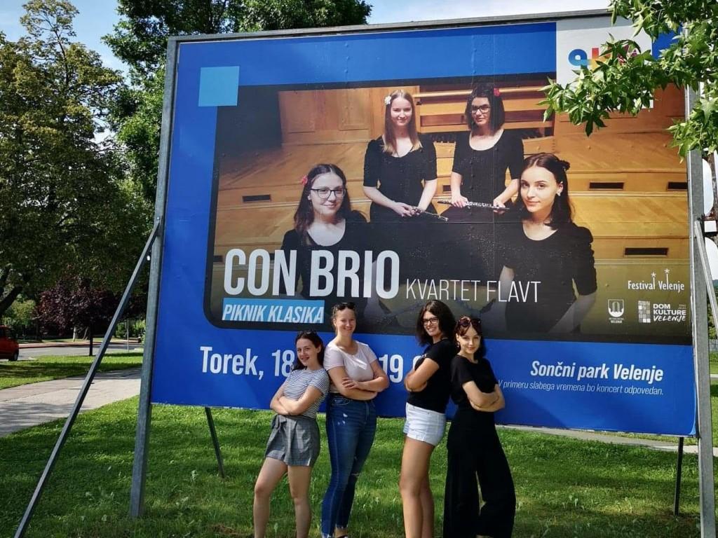 Kvartet flavt Con Brio v Sončnem parku