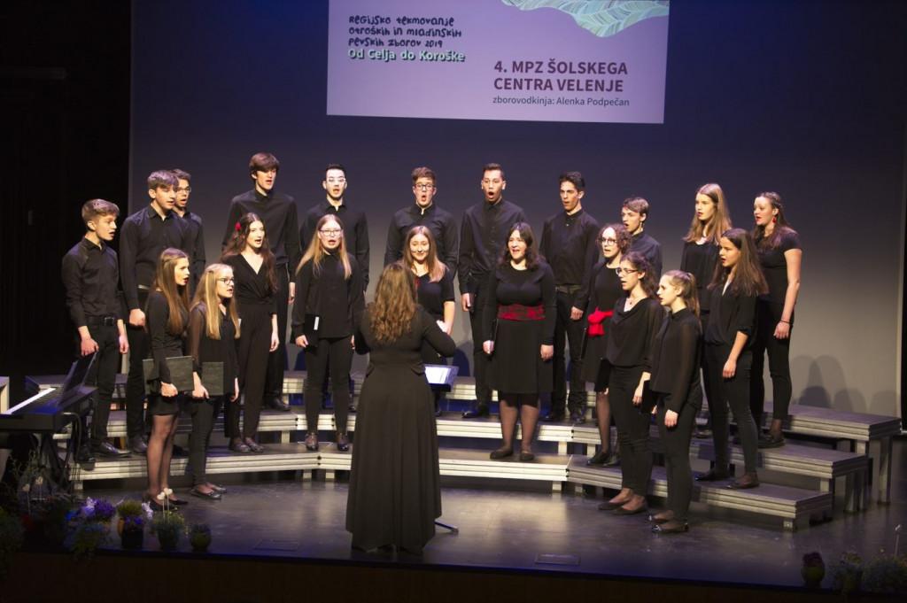 MeMPZ Šolskega centra Velenje uspešen na regijskem tekmovanju zborov