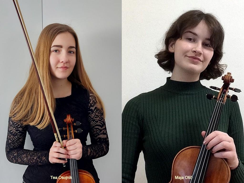 Uspeh naših violinistk na mednarodnih tekmovanjih