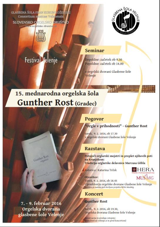 15. mednarodna orgelska šola - Gunther Rost, Gradec