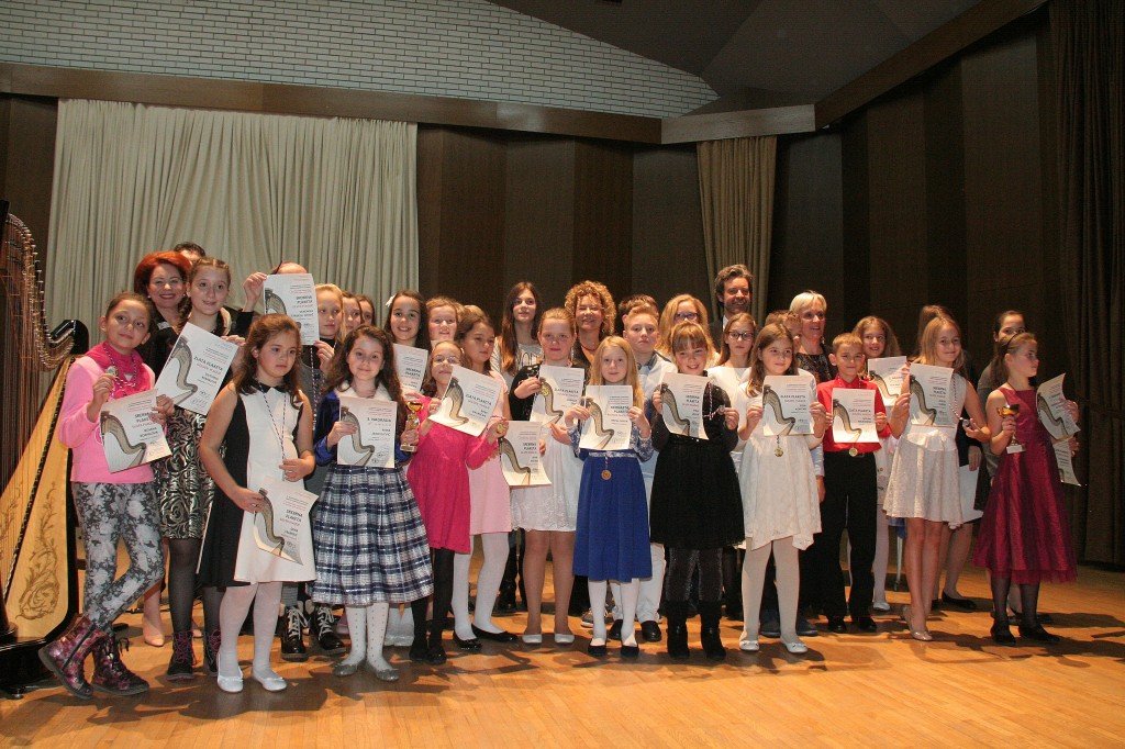 Po 4. mednarodnem tekmovanju Društva harfistov Slovenije