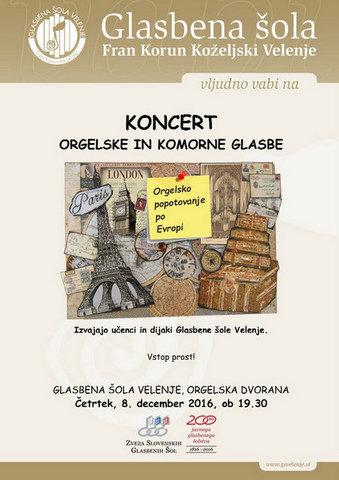 Orgelsko popotovanje po Evropi, 8. 12. 2016
