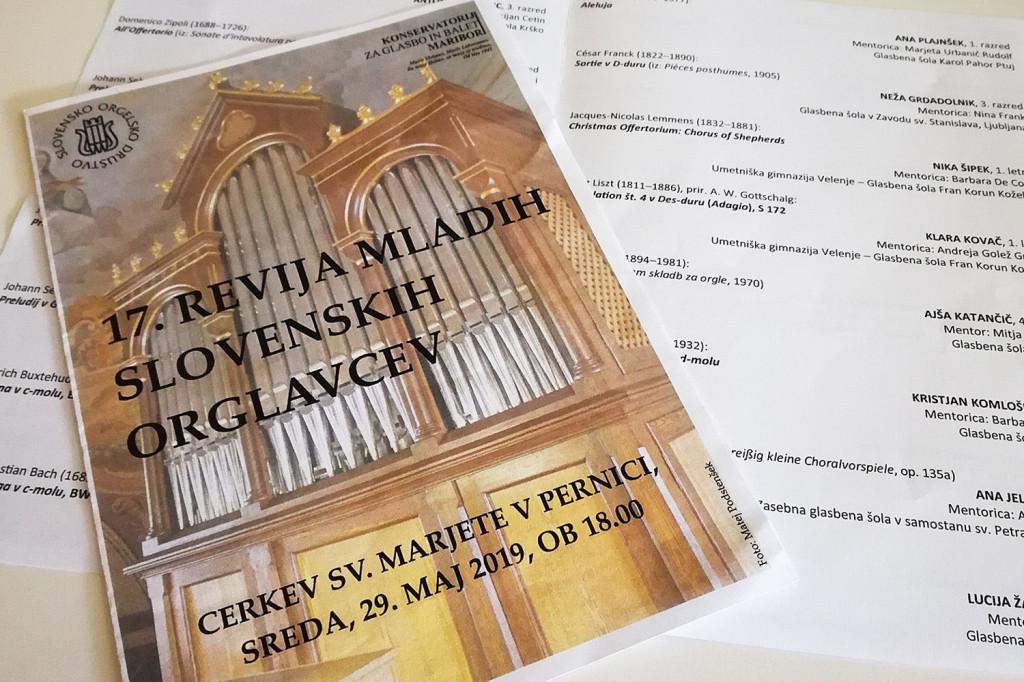 Naše orglavke na 17. reviji mladih slovenskih orglavcev
