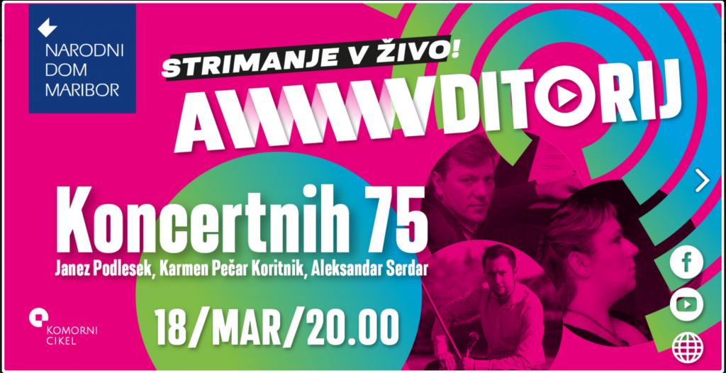Vabljeni na spletni komorni koncert Koncertne poslovalnice Maribor